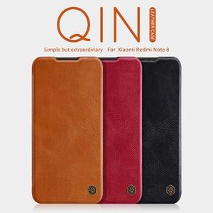 Image 2 - Voor Xiaomi Redmi Note 8 Pro / Note 8T Case Nillkin Qin Classic Flip Pu Cover Vintage Flip Lederen back Cover Met Card Slot