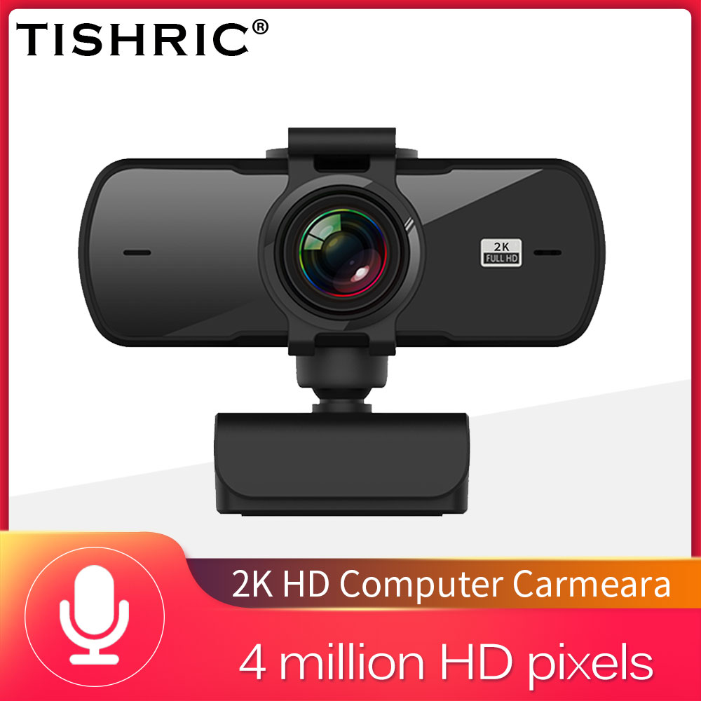 Tishric PC-C5 4 Million Pixels 2K Full HD Webcam for PC Web Camera With Microphone Usb Camera Web Cam For Computer Peripherals 1