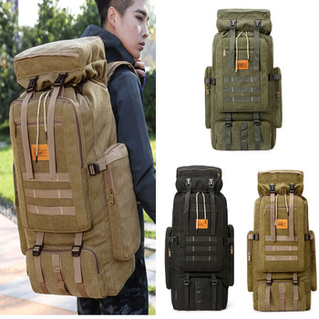 70L Outdoor Backpack Molle Military Tactical Backpack Rucksack Sports Bag Waterproof Camping Hiking Climbing Backpack For Travel 70l men women waterproof travel backpack camping climbing sports bag mountaineering hiking backpack molle sport bags rucksack