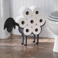 Sheep Decorative Toilet Paper Holder - Free-Standing Bathroom Tissue Storage Toilet Roll Holder Paper Bathroom Iron Storage