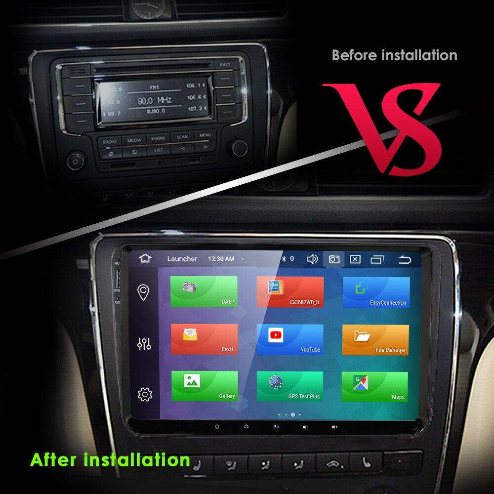 MEKEDE 9 Android 8,1 Автомобильный gps навигация для VW GOLF 5, 6 Polo Passat b5, Jetta Tiguan Skoda, seat, canbus, руль - 3