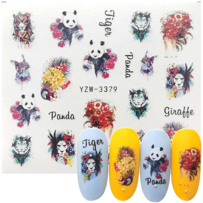 Vos Uil Vogel Nail Art Sticker Watermerk Decal Slider Dieren Serie Water Transfer Manicure Nail Art Decoratie