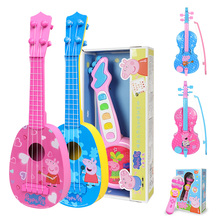 """Горячая Распродажа подлинный Свинка Пеппа 32 см/1"""" Детские Музыкальные инструменты игрушка розовый синий скрипка инструменты Образование Подарки на день рождения 99047"""