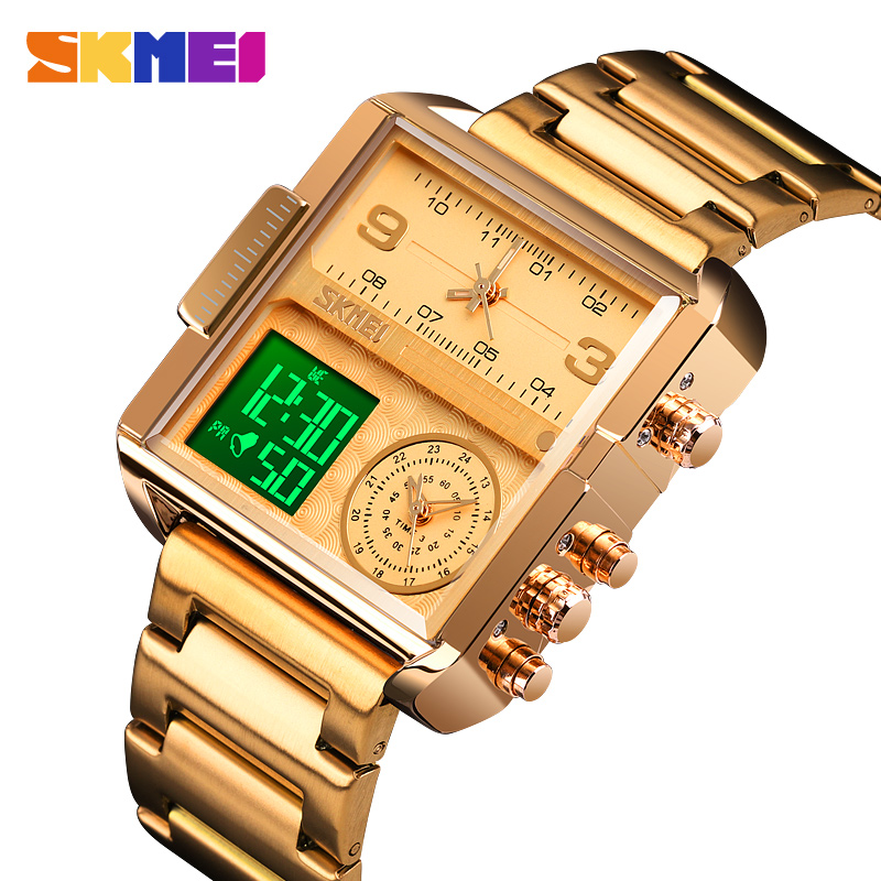 SKMEI Luxury Men Quartz Digital Watch Creative Sport Watches Male Waterproof Wristwatch Montre Homme Clock Relogio Masculino