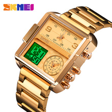SKMEI Luxury Men Quartz Digital Watch Creative Sport Watches Male Waterproof Wristwatch Montre homme Clock Relogio Masculino creative brand men watch steel luxury quartz business wristwatch waterproof clock military sport male watches relogio montre