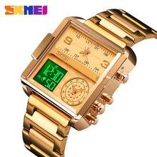 SKMEI Luxury Men orologio al quarzo digitale orologi sportivi creativi orologio da polso impermeabile da uomo Montre homme orologio Relogio Masculino