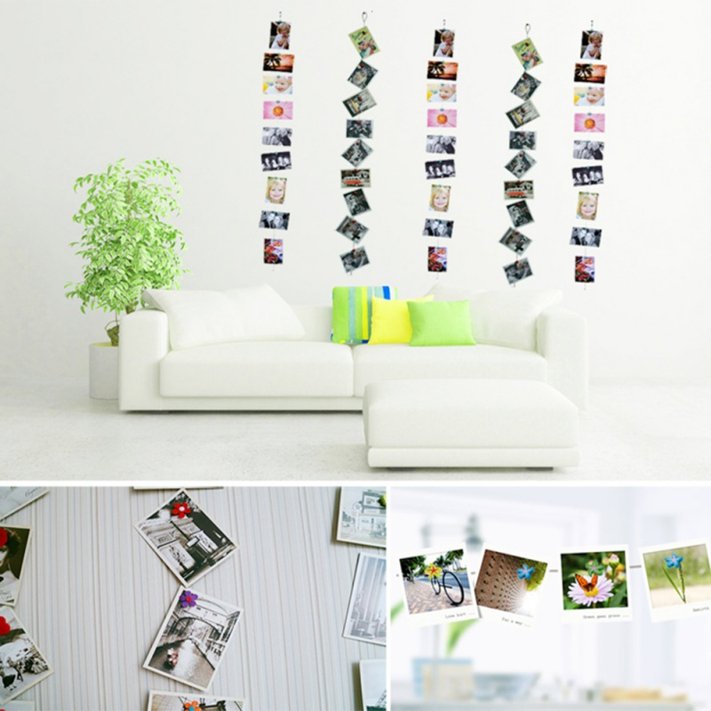 1.5M Magnetic Cable Photo Frame Buckle Anniversary Decor Wall Art Hanging Banner Photo Rope Picture String Home Decorations