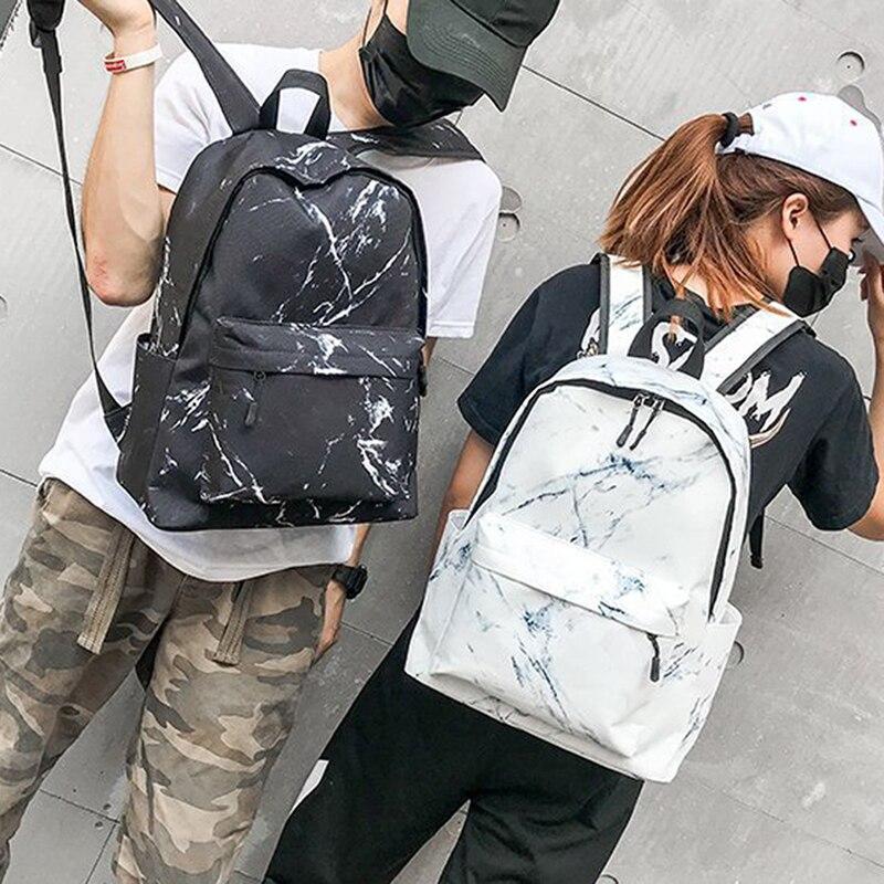 Femmes sac à dos en toile pour adolescents filles sacs de grande capacité sacs à dos marbrés sac à dos femme sac d'école