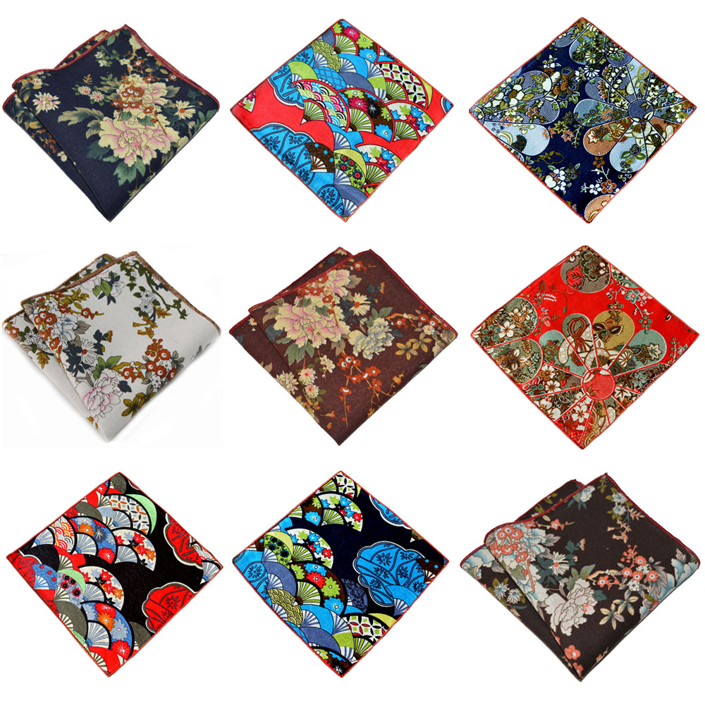 Men's Flowers Printed Handkerchief Party Accessories Business Pocket Square YXTIE0316