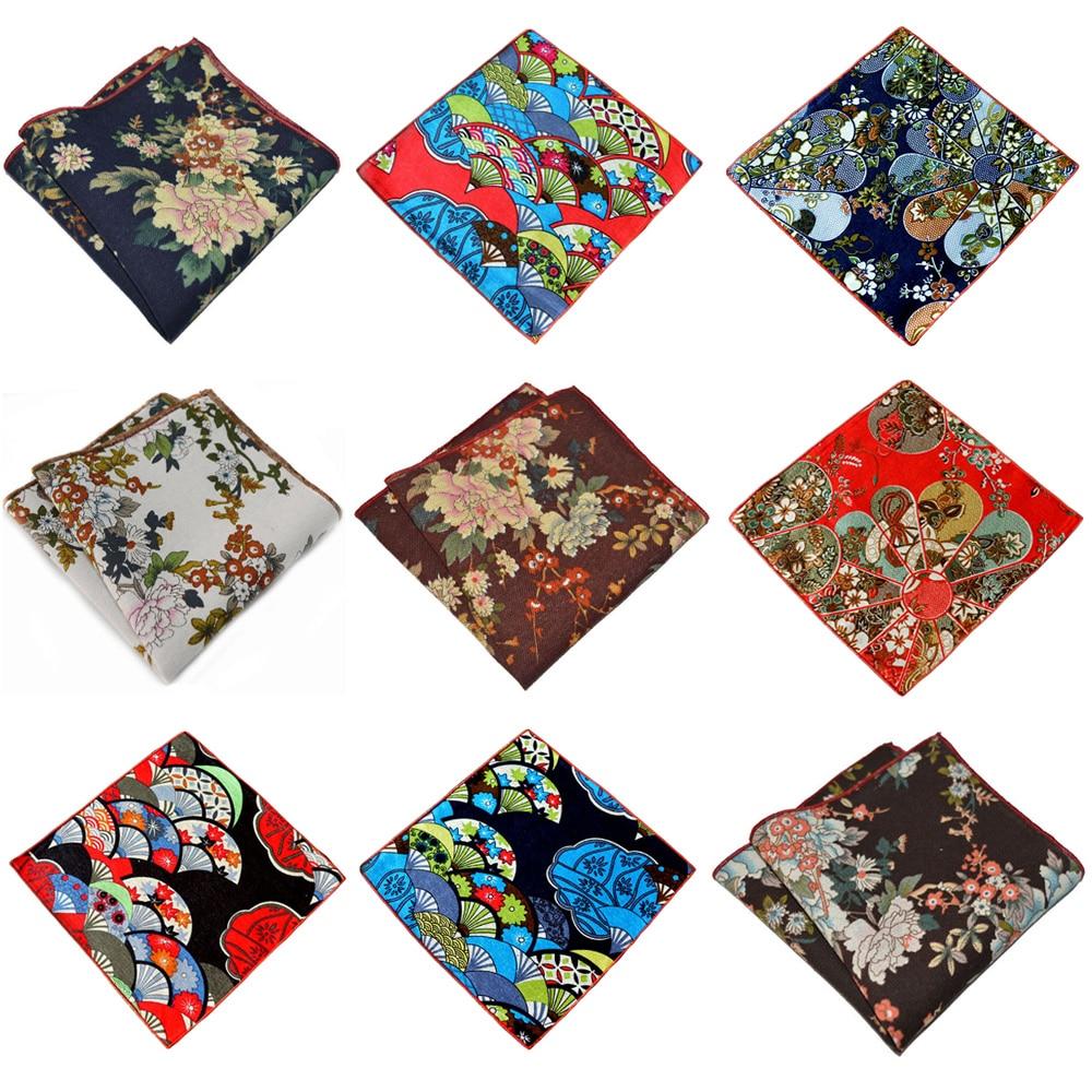 Men's Flowers Printed Handkerchief Party Accessories Business Pocket Square YXTIE0316