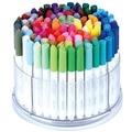 100 цветов/комплект, фломастеры акварельных цветов, детские моющиеся цветные ручки с вращающейся коробкой для хранения