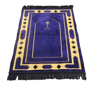 Image 2 - Cashmere Like Thick Prayer Mat Muslim 70*110cm Home Blanket Exquisite Decoration Bedroom Portable Namaz Islamic Praying Mats