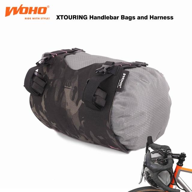 WOHO BIKEPACKING Waterproof Handlebar bags,  Harness for MTB ROAD TRAVEL BIKE,GRAVEL BIKE BAGS,