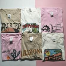Camiseta Vintage para mujer de Hillbilly, camisetas gráficas, camiseta de talla grande con estampado, Camiseta de algodón de manga corta de verano, camiseta divertida de Arizona Hipster