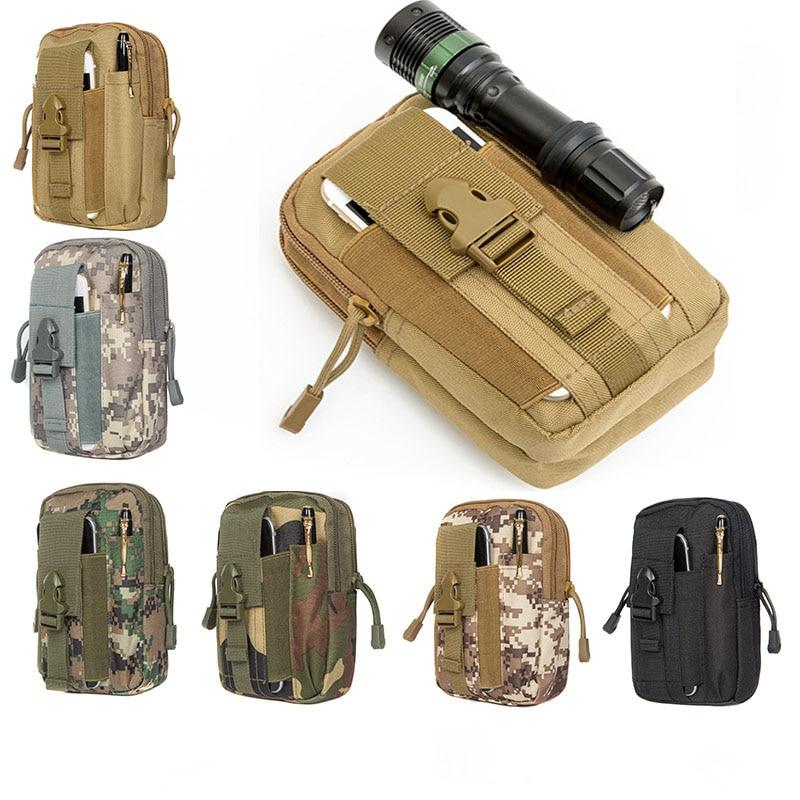 Military Cell Phone Case Belt Bag Hiking Sport Nylon Men Small Fanny Waist Pack