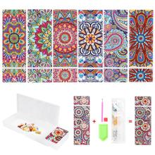 DIY Mandala Special Shaped Diamond Painting Pencil Case 2 Grids Stationery Storage Box Jewelry Box Diamond Embroidery Kids Gift