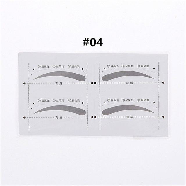 Hot 32 Pairs/Set Professinal Fashion Eyebrow Template Stickers Eye Brow Eyebrow Stencils Drawing Card Stencil Makeup Tools 5