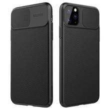 Nillkin para iphone 11 pro max caso slide capa para câmera de proteção para iphone 11 caso 2019 capa traseira para iphone 11 pro caso