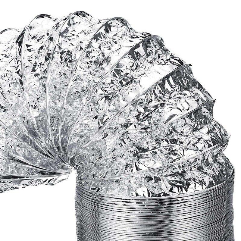 HLZS-3 м длина 100 мм/4 дюйма система свежего воздуха Гибкая алюминиевая выхлопная труба вентиляционная труба шланг для ванной комнаты