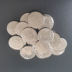 10pcs 24*1.7mm Stainless Steel Arcade Token Coin for capsule gum ball candy vending machine