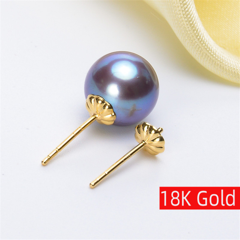 New 18K Gold earrings gold jewelry,Antiallergic For Women Fashion for love pearl Accessories