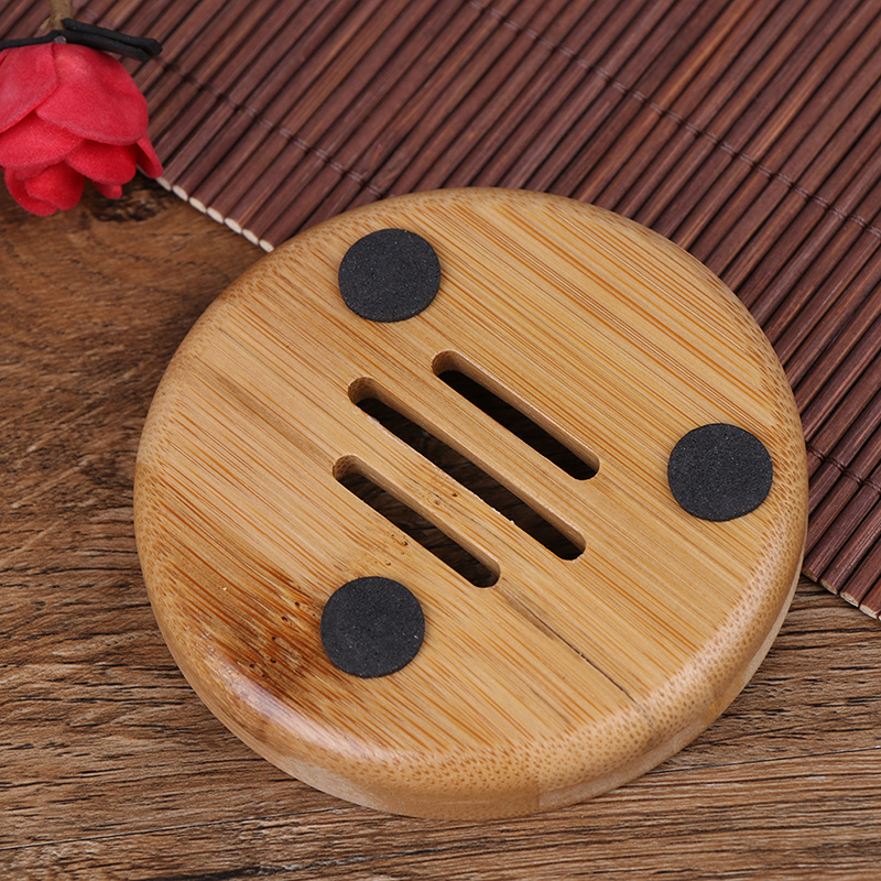 New 1PCS Bathroom Shower Soap Tray Natural Bamboo Wood Dish Storage Holder Plate Box Container 3Styles