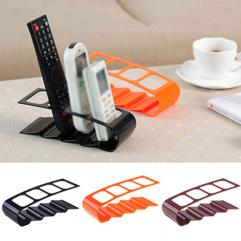 Four Remote Control Frame Classic Stand Rack Up Remote Control Bracket Mobile Phone Holder Practical 1 pc mobile phone holder cartoon mini portable fixed holder home supplies mobile phone remote control bracket holder