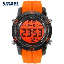 SMAEL moda sport męskie zegarki 2021 nowy zegarek mężczyźni elektroniczny zegarek LED cyfrowy zegar człowiek data wodoodporny wojskowy Wristwatche