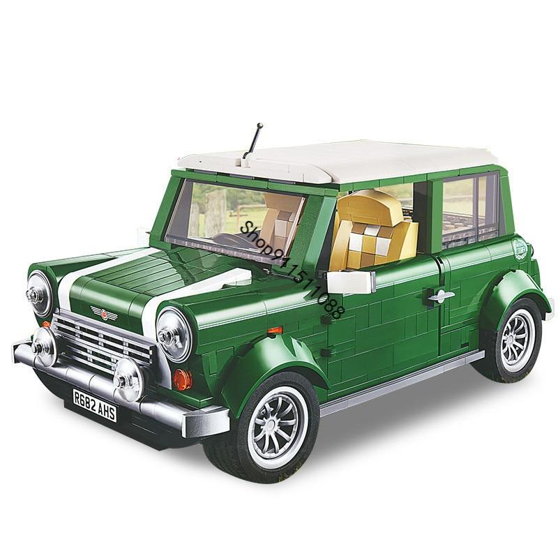 1267 pçs técnica mini cooper criador especialista ajuste 10242 tijolos clássico modelo de carro conjuntos blocos de construção crianças presente aniversário brinquedos