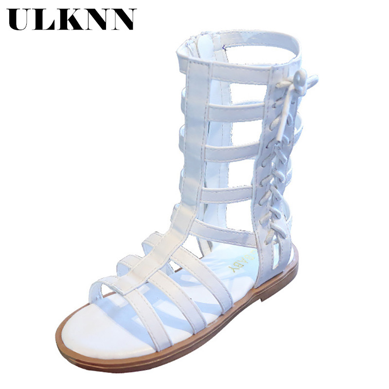 ULKNN Girls Sandals 2020 New Children's Summer Fashion Korean Girl Children Princess Shoes Roman Shoes Tide