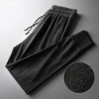 2019 мужские черные штаны для бега, новый бренд, спортивные штаны с завязками, высокая уличная мода, дизайнерские штаны для бега с черепами, му...