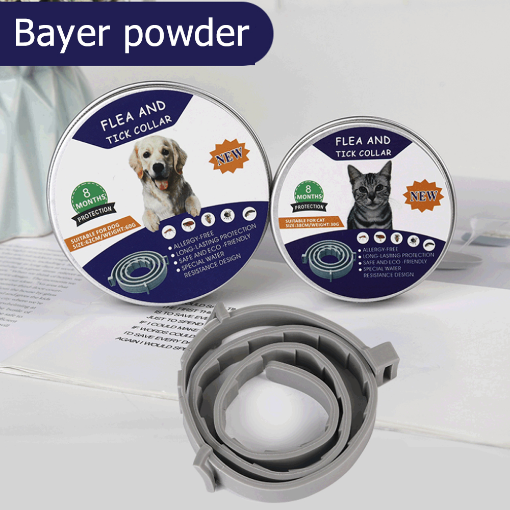 Medium And Large Dogs Mosquito Repellent Insect Repellent Collar Preventing Flea Ring Durable Teddy Parasite Cat 39/63cm Rubber
