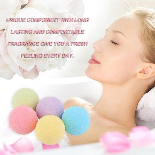 Handmade Bath Salt Bombs Small Size Hotel Bathroom Bath Ball Bomb Aromatherapy Type Body Cleaner Gift Random Color 4