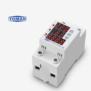 Image 3 - 63A 230 فولت 3IN1 عرض Din السكك الحديدية قابل للتعديل أكثر وتحت الجهد جهاز حماية حامي التتابع مع أكثر من الحماية الحالية