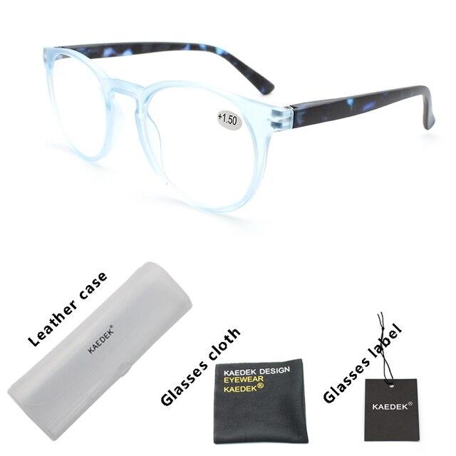 kaedek дешевые очки для чтения женщин и мужчин черные круглые фотография