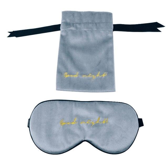 Фото 1 шт шелковая бархатная маска для сна натуральная накладка на