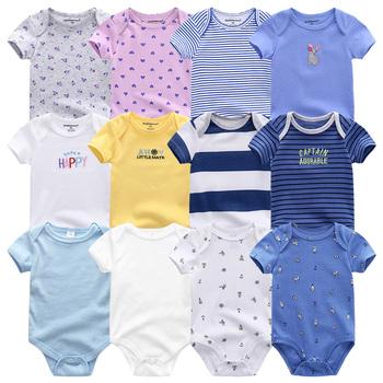 Uniesx noworodka śpioszki dla niemowląt odzież 7 sztuk partia niemowlę kombinezony 100 bawełna dzieci Roupa De Bebe dziewczyny i chłopcy ubranka dla dzieci tanie i dobre opinie Fetchmous Moda COTTON Suknem REGULAR O-neck Unisex Vest 100 Cotton Pasuje prawda na wymiar weź swój normalny rozmiar
