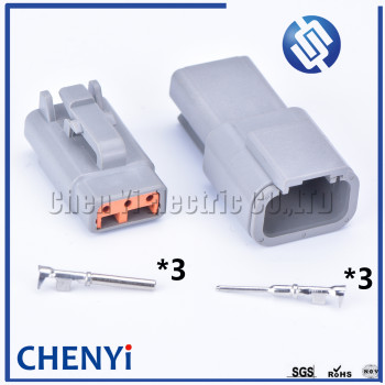 1 set Deutsch DTM 3pin connector DTM06-3S/DTM04-3P Male or Female Auto Waterproof Connector Automotive Sealed Plug image
