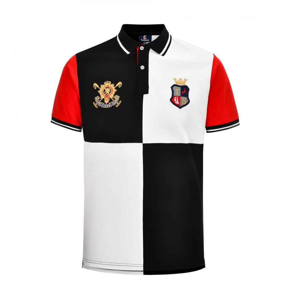 Рубашка-поло мужская из чистого хлопка, брендовая дышащая футболка с короткими рукавами и вышивкой, спортивная одежда для гольфа, тенниса, л...