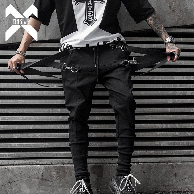 11 BYBB'S DARK Mens Ribbons Design Harem Pant 2019 Men Streetwear Punk Hip Hop Casual Trousers Joggers Male Dancing Pant WA145