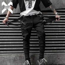 11 BYBB'S DARK Mens Ribbons Design Harem Pant 2019 Men Streetwear Punk Hip Hop Casual Trousers Joggers Male Dancing Pant WA145