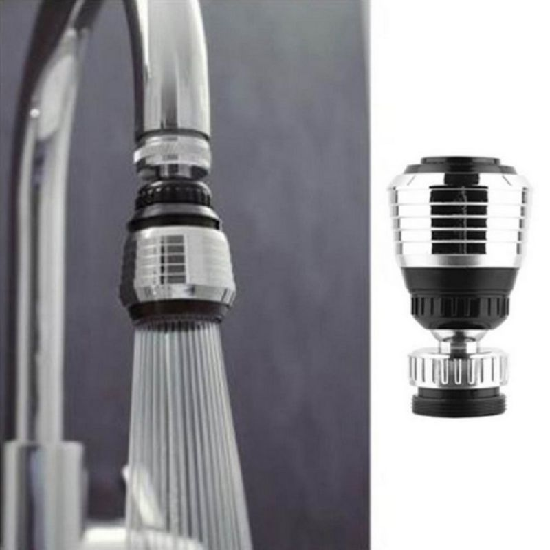 Kitchen Faucet Nozzle Filter Water Saving Faucet Head 360° Rotation Water Tap Head