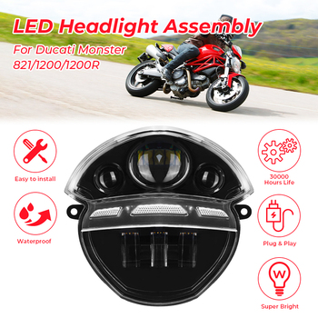 For Ducati Monster 695 696 Motorcycle Headlight Front Headlamp 795 796 1100 1100S M100 2013-2015