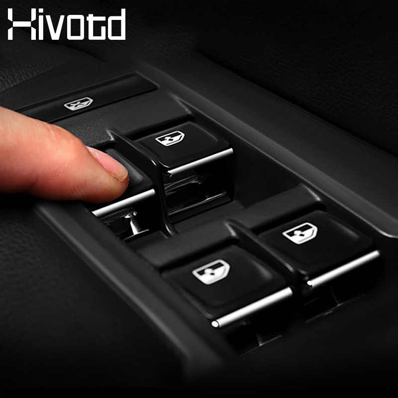 Hivotd untuk Skoda Kodiaq 2017 2018 2019 Mobil Jendela Angkat Beralih Tombol Payet Trim Stiker Penutup Auto Aksesoris Styling
