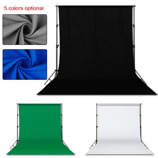 التصوير الفوتوغرافي 3*4 متر خلفية حامل دعم نظام عدة للصور استوديو مع 3 قطعة أبيض أسود أخضر الشاش الخلفيات