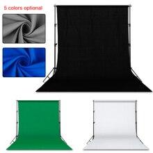 Fotografia 3*4 m fundo suporte kit sistema de suporte para estúdio foto com 3 pçs branco preto verde musselina backdrops