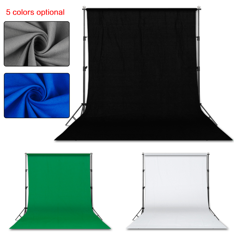 Photography 3*4M Background Backdrop Stand Support System Kit for Photo Studio with 3 Pcs White Black Green Muslin BackdropsBackground   -