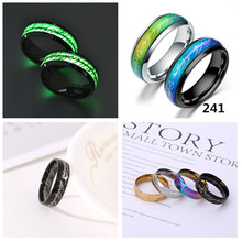 New Fashion Stainless Steel Luminous Ring Lord of the Rings Titanium Steel Jewelry Thermochromic Lord of the Rings Wholesale lord of temptation