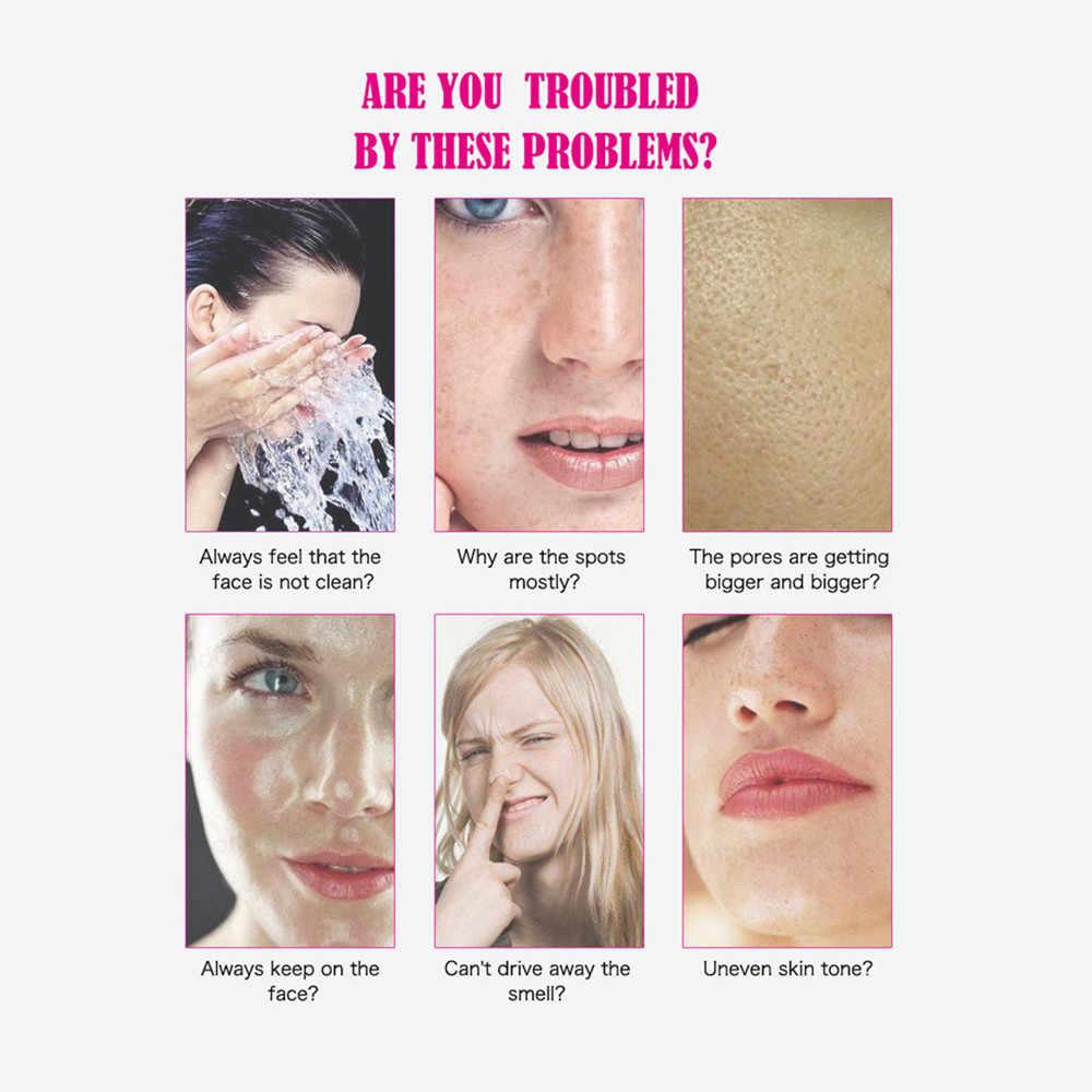 Savon pour le nettoyage du visage et du corps escargot blanchiment à l'acide hyaluronique, contrôle de l'huile stérilisation anti-acariens savon de nettoyage du visage