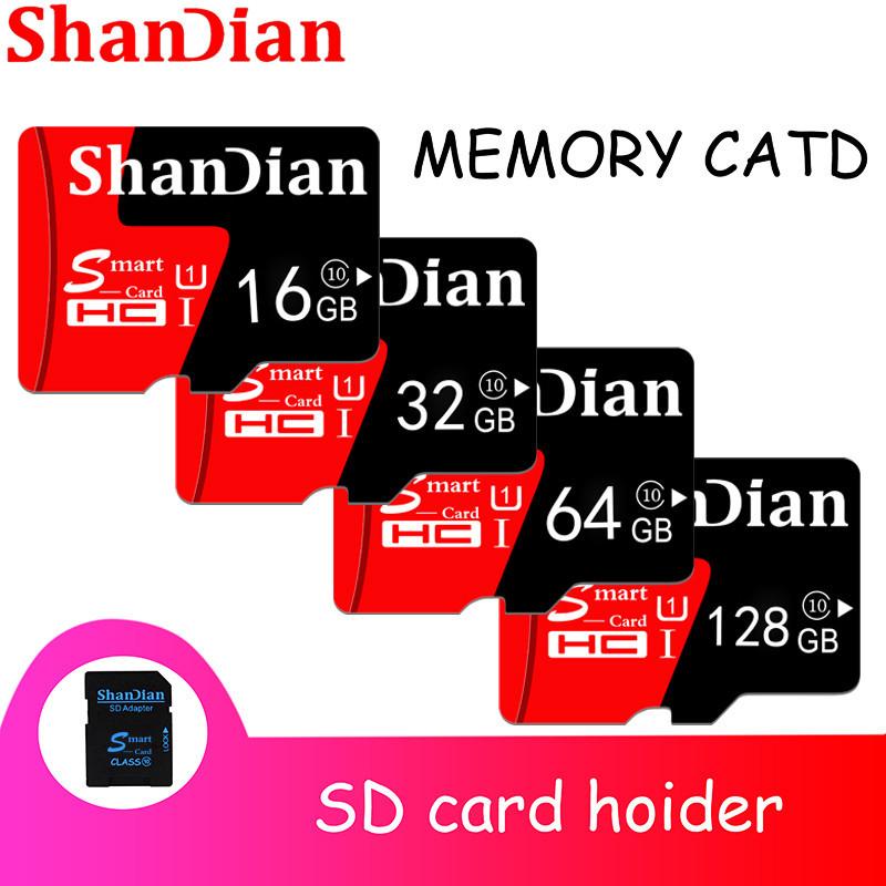 NEW Brand Green SHANDIAN TF 32G 16G TF Memory Card Class 10 4G 8G Smart TF Card High Speed 64G TF Card Memory Card